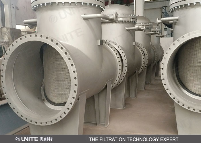 60 Mesh T Type pipeline filter for Coke Oven Gas Filtration
